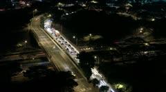 Timelapse traffic ramp Stock Footage