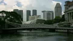 Timelapse Singapore River Stock Footage