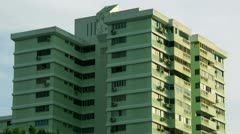 Timelapse Singapore apartment Stock Footage