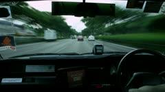 Timelapse steering wheel Stock Footage