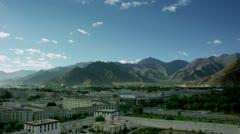 Timelapse Lhasa landscape Stock Footage