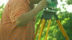 surveyor survey equipment - stock footage
