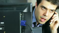 Talking tech support communication communicate Stock Footage