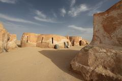 Town in the sahara desert Stock Photos