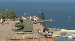 View from Castell de Montjuïc Stock Footage