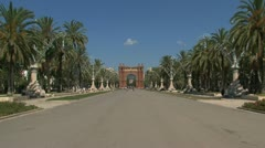 Arc de Triomf Stock Footage