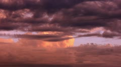 Timelapse cloud layers Stock Footage