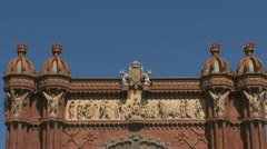 Arc de Triomf zoom out Stock Footage