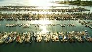 Honolulu yacht harbor Stock Footage