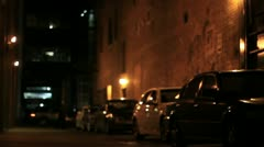 Downtown dark alley man 2 Stock Footage