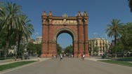 Stock Video Footage of Arc de Triomf