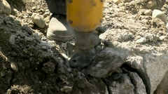 Jackhammer Close-Up 01 Stock Footage