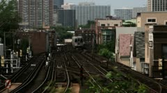 Timelapse L-train Stock Footage
