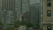 Timelapse downtown apartment Stock Footage