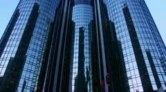 Timelapse Bonaventure Hotel elevators Stock Footage