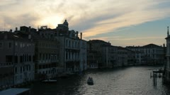 Sunset over venice water ways (HD) c Stock Footage