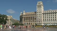 Placa de catalunya Stock Footage