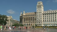 Stock Video Footage of placa de catalunya