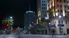 Timelapse Hollywood intersection Stock Footage