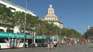 Stock Video Footage of Tourism bus at placa de catalunya