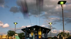 Timelapse cable cars Stock Footage