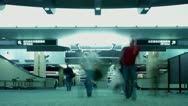 Timelapse airport terminal Stock Footage