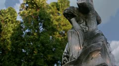 Timelapse cemetery statue - stock footage