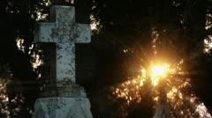 Timelapse cemetery cross - stock footage