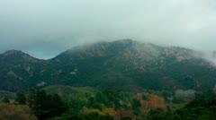 Timelapse Santa Monica mountains Stock Footage