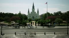 Timelapse St. Louis Cathedral Stock Footage