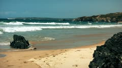 Beach rocks  Stock Footage