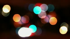 Timelapse out-of-focus orbs Stock Footage