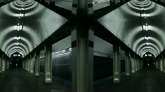 Timelapse subway kaleidoscope - stock footage