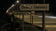 Timelapse Chinese Cemetery sign Stock Footage