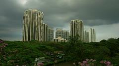 Timelapse Singapore condominium Stock Footage
