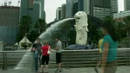 Timelapse Merlion statue Stock Footage