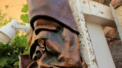 Traditional Leather Masks in Bodrum, Turkey Stock Footage