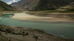 Timelapse Yarlong Tsangpo river Stock Footage