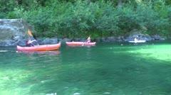 Boys Kayaking Stock Footage