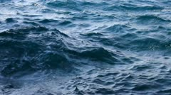 Rough Waters of the Deep Blue Sea Stock Footage