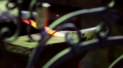 Hand forged metal Stock Footage