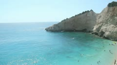 Blue Sea - Porto Katsiki, Lefkada Stock Footage