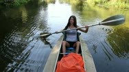 Stock Video Footage of kayak, river, girl