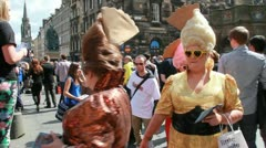 Edinburgh Festival Fringe at the Royal Mile Stock Footage