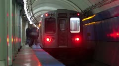 Timelapse Illinois subway Stock Footage