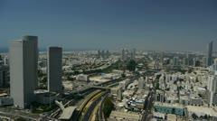 Tel Aviv panorama electra 1 Stock Footage