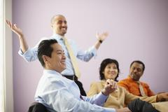 Multi-ethnic businesspeople at meeting Stock Photos