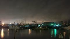 Timelapse Marina Del Ray docks Stock Footage