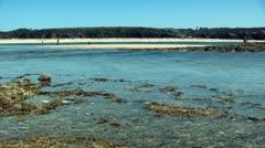 Beach landscape mil fontes beach  - Alentejo, Portugal Stock Footage