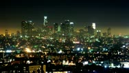 Stock Video Footage of Timelapse Los Angeles skyline